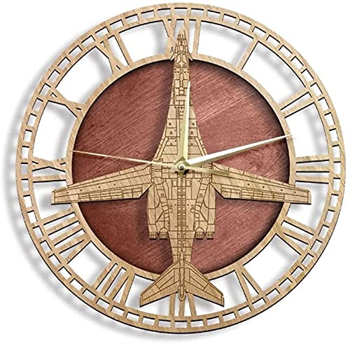 Auoeer Reloj de Pared B-1B Lancer Pesado Bombardero aviación de aviación Combate avión Moderno diseño de Pared Reloj de Pared Pared Arte Pilotos decoración del hogar