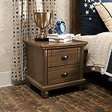 LRZS American Simple Solid Wood Bedside Cabinet Gabinete de Almacenamiento Dormitorio de los niños Bedside Cabinet Boy (Color : Brown)