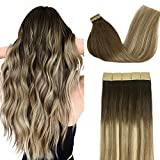 Best Tape In Hair Extensions - Doores Real Hair Extensions Tape in Ombre Walnut Review
