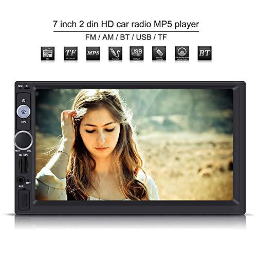 7 pulgadas 2 Din Reproductor Multimedia MP5 HD pantalla táctil Bluetooth GPS Estéreo Radio FM/USB/AUX /…