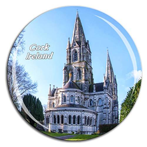 La Catedral de Saint Fin Barre en Cork Irlanda Imán de Nevera Cristal de Cristal 3D Ciudad Turística Recuerdo de Viaje Colección de Regalo Fuerte Etiqueta Engomada del refrigerador