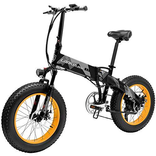 Lixada 1000W 20 Pulgadas Bicicleta eléctrica Plegable asistida por Potencia E-Bike 70...