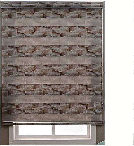 cortinas venecianas Día y noche Zebra Roller Ciego de doble tela translúcida o cortinas de visión en apagado for la ventana Shade Persiana for la ventana y la puerta Fácil de instalar decorestor