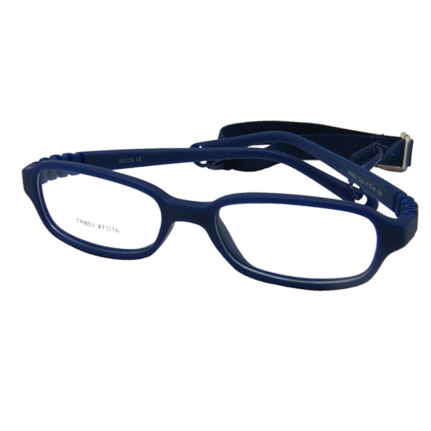 EnzoDate Kids Optical Glasses Frame Size 47-16-115 with Cord, No Screw Bendable