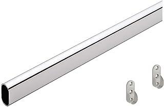 GEDOTEC Perchero de metal Perchero OVAL 2000 mm | Tubo acero