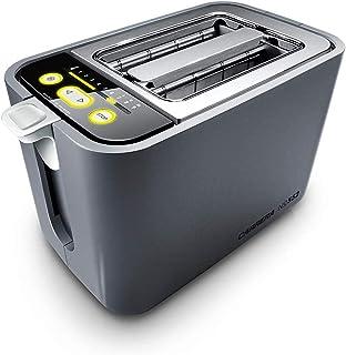 CARRERA Grille pain No 552, Toaster Horizontal, 2 Fentes - 2 Tranches, 9 Réglages Numériques Et Compte À Rebours Optique