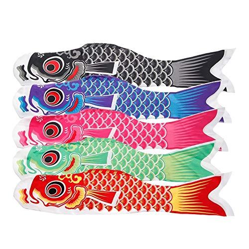 JKMQA dx Juguetes 70 cm koi nobori Carpa Viento Calcetines Koinobori Colorido Peces Bandera Colgando Pared decoración l9cd