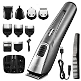 ATMOKO Beard Trimmers for Men Beard Groomer Cordless Grooming Kit with Mustache Trimmers Hair Trimmer for Nose Ear Facial Hair USB Rechargeable Washable, Silver