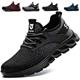 SUADEX Steel Toe Shoes for Men Women Indestructible Work Shoes Lightweight Comfortable Safety Sneakers Slip-Resistant Composite Toe Shoes for Construction Black