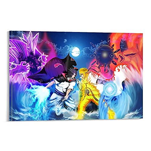 SDSD Pangoo Art Giapponese Anime Poster Decorativo Tela Tela Wall Art Soggiorno Poster Camera da Letto 60 x 90 cm
