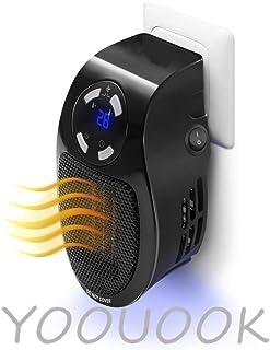 Calentadores eléctricos,De Ventilador Termostato Silencioso,De Ventilador Termostato Silencioso Portátil Pequeño Portátil,Adecuado para el otoño y el invierno dormitorio de oficina-500W (Negro)