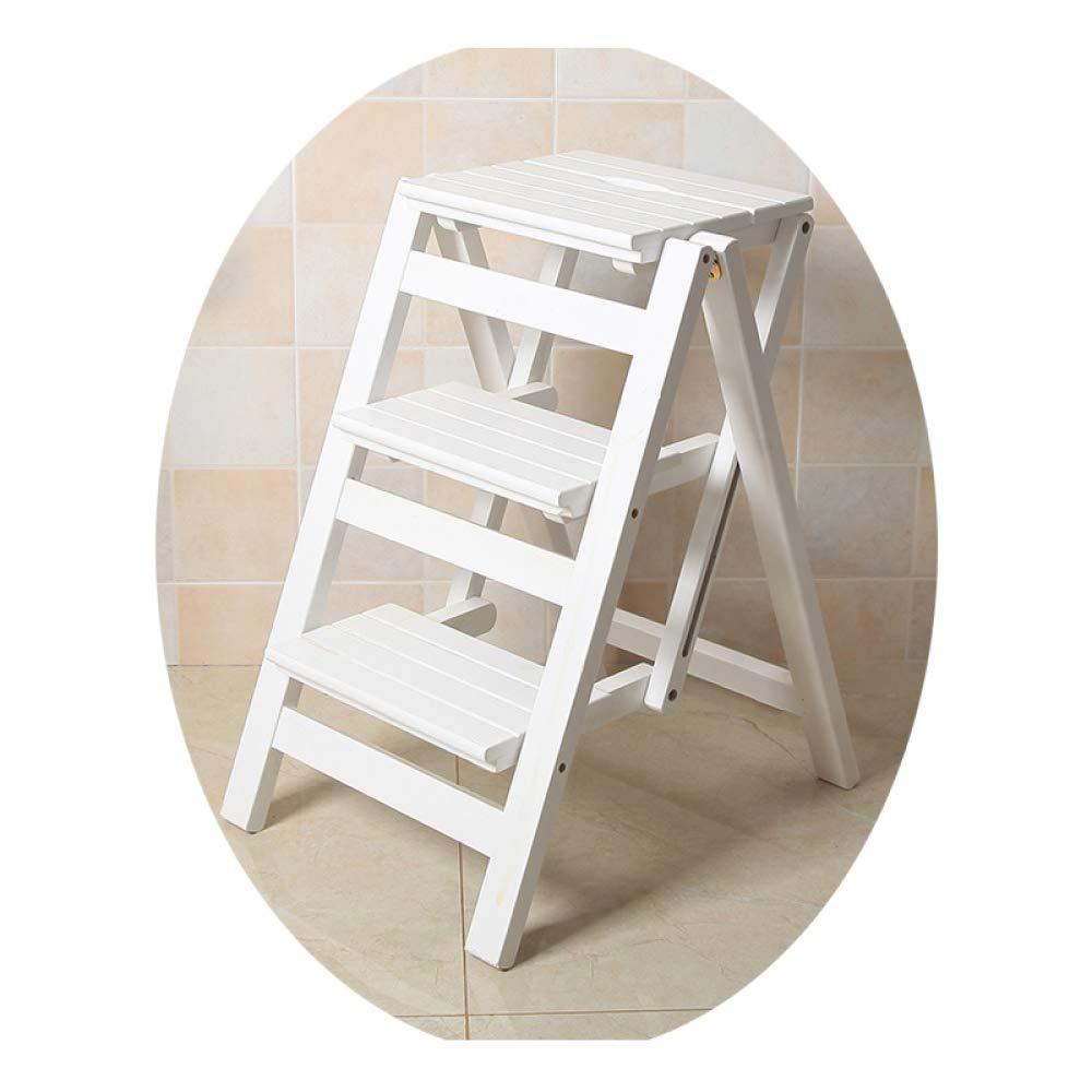 Step stool Taburete Multi-Función de Plegado Silla de la Escala Taburete Subir una Escalera Taburete/Blanco/Tres pisos: Amazon.es: Bricolaje y herramientas