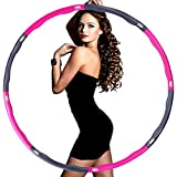 SourceDIY Hula Hoop Adults Weighted Fitness 100cm Exercise Training Gymnastic Workout Foam Padded Slimming Ring Burn Fat and Calories for Core Strengthening Home Gym Equipment