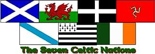 3x5 3'x5' Wholesale Set (7 Pack) The Seven Celtic Nations Celts Flag Banner Fade Resistant Double Stitched Premium Penant House Banner Grommets