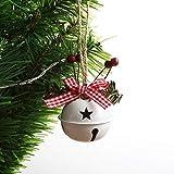 XXXKK Decoración Navideña,Blanco Navidad Campanas Redondas Bolas Adornos Brillo Decoración De Árboles De Navidad Bolas Decoraciones Colgantes De Navidad Colgante Pequeño De Navidad para La De