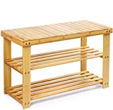 Camabel Estantería para Zapatos de Bambú 3 Niveles 70 x 30 x 43 cm Carga máxima 126kg Organizador...