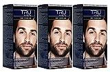 3x TRU Professional MEN Bart-Coloration 60-Naturbraun (3´er Pack)