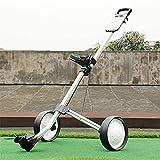 TUHFG Carrito de golf plegable para tirar de golf, carrito de golf de 2 ruedas, carrito de golf plegable ligero con marcador, soporte para bebidas, fácil de abrir y cerrar