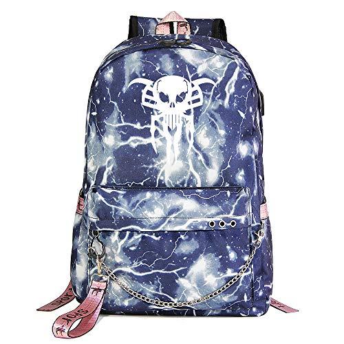Venom Rucksack, Freizeit Wanderrucksack, Mode Studenten Rucksack, College Student Schultasche, Unisex Blue Lightning-13