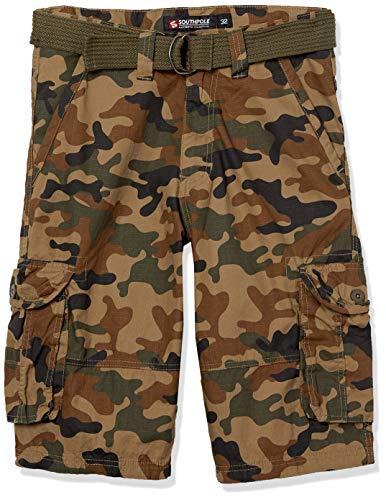 Southpole Men's Shorts, Camo New Army Green, 42