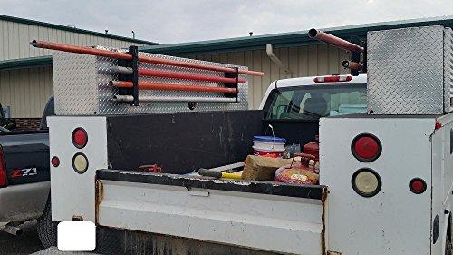 4-Tool Landscape Truck Rack for Shovels, Rakes, Seldge Hammer, Etc.