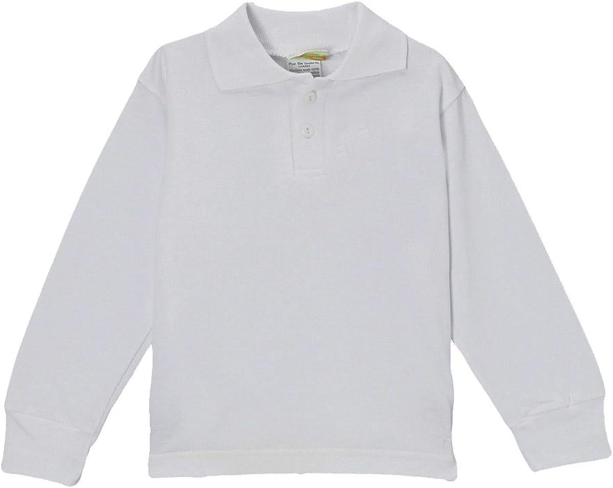 PAM Big Boys' Blank Long Sleeve Polo Shirt