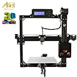 Anet i3 3D Drucker Kit Profi Industriell LCD 100MM/S MAX DIY 1.75mm Filament 3D Printer Kit mit SD-Card Reader & USB Kabel & 10M PLA Filament