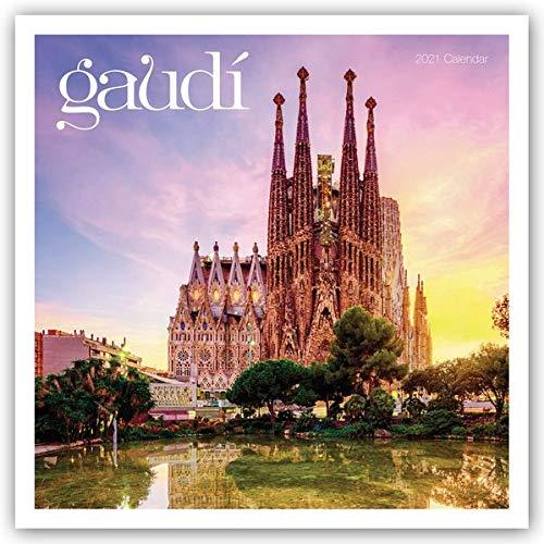 Gaudí 2021: Original Carousel-Kalender [Mehrsprachig] [Kalender] (Wall-Kalender)