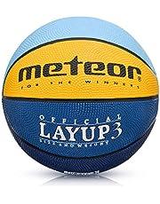 meteor Balón Baloncesto Talla 3 Pelota Basketball Bebe Ball - para niños y jouvenes para Entrenar y Jugar - Layup