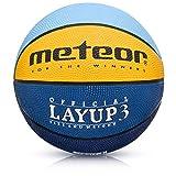 Balón Baloncesto Talla 4 Pelota Basketball Bebe Ball Infantil Niño Balon Basquet - Baloncesto Ideal para los niños y jouvenes para Entrenar y Jugar - Tamaño 4 Layup (#4, Azul/Amarillo/Verde)