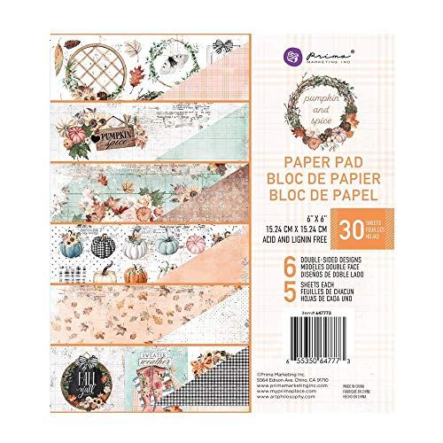 "Unbekannt PRM Paper Pad 6""x6"" - Pumpkin Spice"