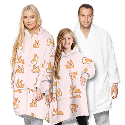 IvyH - Manta de gran tamano con capucha y bolsillo para mujeres y hombres, ninas