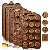 Backformen aus Silikon zum Backen, Bonbons und Schokolade: Kleine flexible Form für harte oder gummiartige Süßigkeiten - Werkzeuge zur Bonbon- und Schokoladenherstellung - Blatt- und...