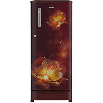 Whirlpool 190 L 4 Star Inverter Direct-Cool Single Door Refrigerator (WDE 205 ROY 4S INV, Wine Radiance, Inverter Compressor) with Base-Drawer