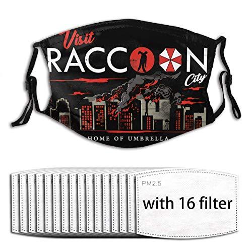 Hengtaichang Resident Evil Operation Raccoon City Windstaubmasken Wiederverwendbare und waschbare Gesichtsmaske mit 16 Filtern