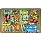 Drymate Cat Bowl Placemat, Pet Food Feeding Mat -...