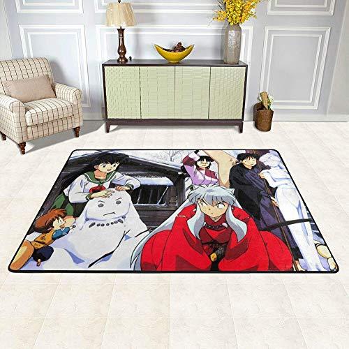 Zachte Slaapkamer Tapijten - 4' x 6.5' Fluwelen Vloerbedekking voor Woonkamer Kids Kamer Home Decor Tapijt Anime Japan Kimono ontwerp
