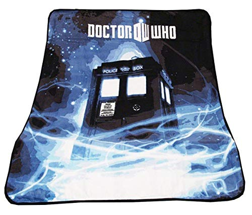 Doctor Who Throw Blanket - TARDIS Gallifrey Fleece - 50' x 60' Afghan