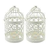 Wuudi 2 portavelas, jaula de pájaros, estilo vintage, europeo, candelabros, candelabros, candelabros, candelabros, bodas, decoración de mesa