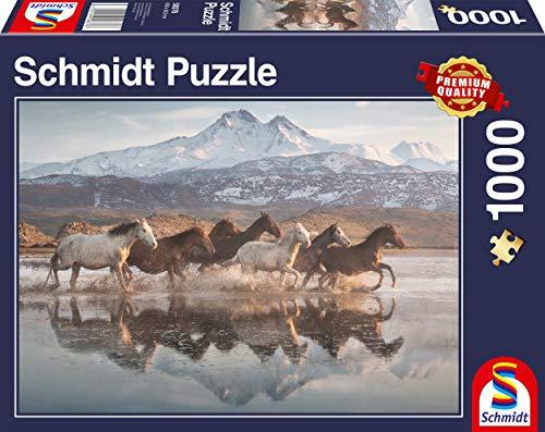 Schmidt Spiele Puzzle 58376 Pferde in Kappadokien, 1000 Teile Puzzle, bunt