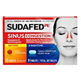Sudafed PE Day and Night Sinus Pressure and Congestion Tablets, 20 Count