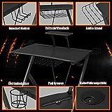 COSTWAY – Gaming Tisch (schwarz) - 6