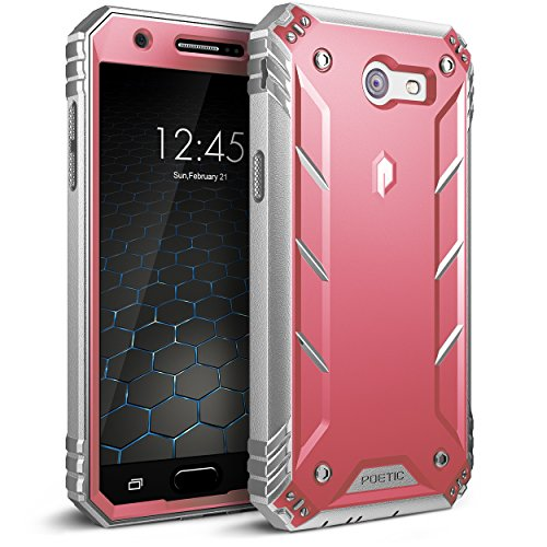 Poetic Revolution Galaxy J3 Emerge Rugged Case Cover Heavy Duty and Built-in Screen Protector for Samsung Galaxy J3 (2017) / J3 Prime/Amp Prime 2/ Express Prime 2 Blue/Gray