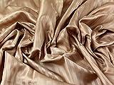 Satin Streifen gemustert Acetat Futter Kleid Stoff camel