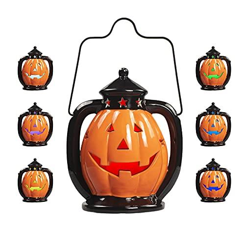 6 Colors Ceramic Pumpkins Led Lights Decorations,Christmas Halloween...