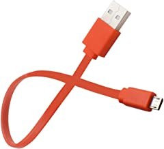 Replacement USB Charging Cable Power Supply Cord for JBL GO Xtreme Flip 4 Flip 3 Charge 2+ Charge 3 Pulse 2 Pulse 3 Clip 2 Wireless Speakers 2A Fast Charger Cable Orange