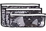 Bumkins TSA Approved Toiletry Bag, Travel Bag, Quart Zip Pouch, Clear Sided, PVC-Free, Vinyl-Free, Set of 3 – Disney Mickey Mouse Icon