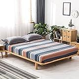 CYYyang Protector de colchón Transpirable.Rizo Bambú. Cubierta Antipolvo de una Sola Pieza para sábana-6_150 × 200CM