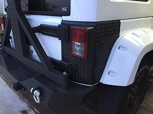 MARVIN(マーヴィン) リアコーナーガード ダイアモンドプレートタイプ プラスチック製 左右セット 07y- JEEP ラングラーJK P/# NII-15JKRC01