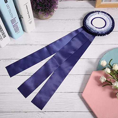DAUERHAFT Medalla de Cinta Insignia Exquisita Confiable, para competición de fútbol, para competición de Carrera(Blue)